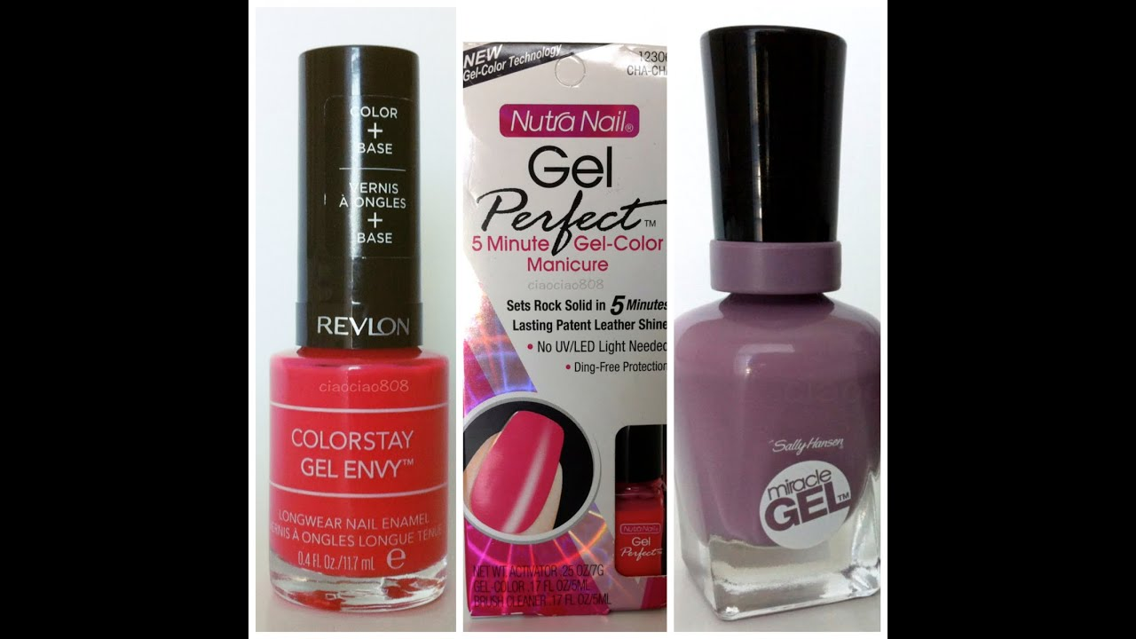 Drug Store Gel Nails Review - YouTube