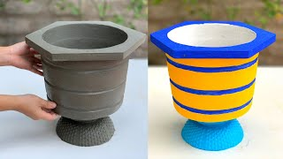 Make A Cement Pot From A Trash Can Mold - Decorate Your Garden