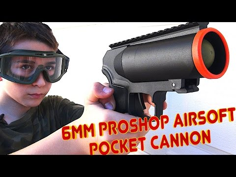 6mmProShop Airsoft Pocket Cannon 40mm Gas Grenade Launcher Pistol with Robert-Andre!
