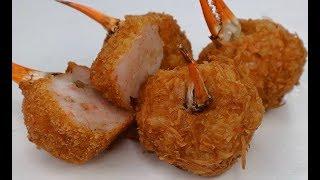 Càng Cua Bọc Tôm- Stuffed Crab Claws w/ Shrimp Paste