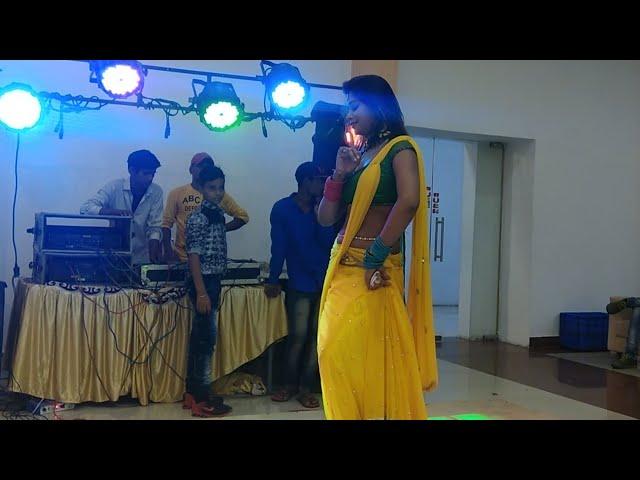 Indian Girl Dancing in Yellow Dress on Dj Floor in Friend's Engagement