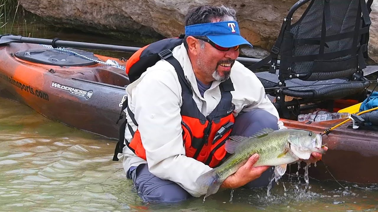Kayak fishing surviving the pecos river part 1 youtube for Pecos river fishing
