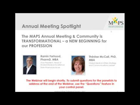 The MAPS Annual Meeting & Community is TRANSFORMATIONAL – a NEW BEGINNING for our PROFESSION