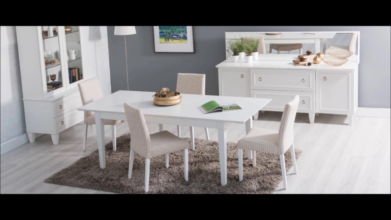 2019 Beyaz Ahşap Masa Modelleri