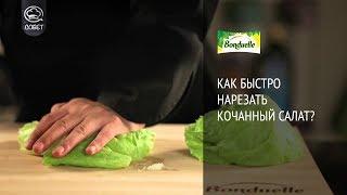 Как быстро нарезать кочанный салат? - Советы от Bonduelle