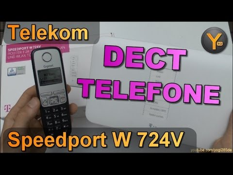 Telekom Speedport W724V: Einrichtung von DECT Schnurlos-Telefonen (z.B. Gigaset)