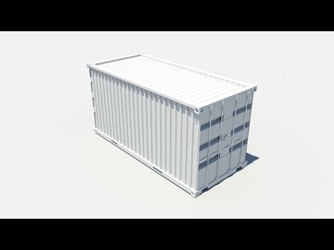 Maya 2014 tutorial : Shipping container modeling