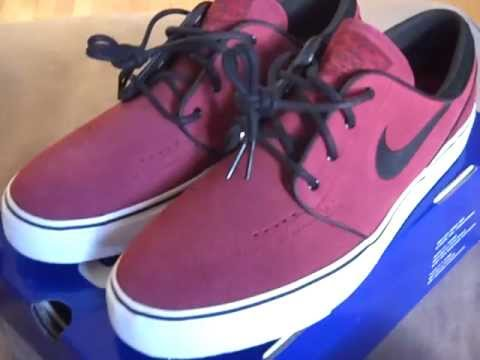 Nike Zoom Stefan Janoski SB - Team Red (Maroon Burgundy) - YouTube 46acaa5dd