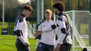 Man City Players Train Ahead of Borussia Dortmund Champions League Quarter-Final Clash