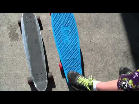 New School Vs Old School Skateboards - Penny Nickel