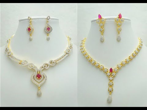 45addba21ec63c Trendy Gold Necklace Set Designs || Fancy New Modern Gold Necklace Set  collections
