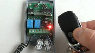 universal 12 24v rolling fixed code receiver programming procedure with 433 92mhz remote