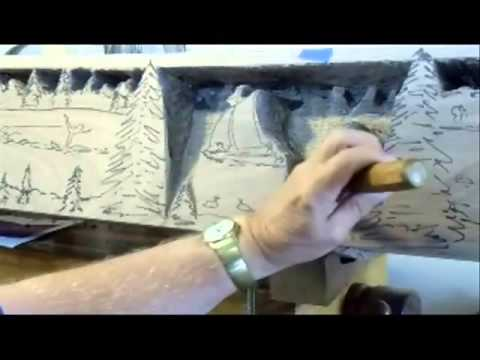 Carving A Fireplace Mantel