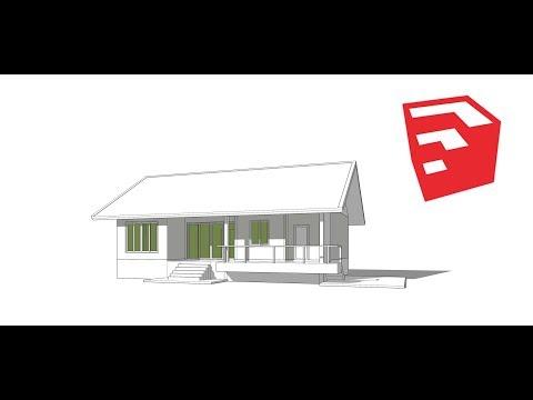 Tutorial sketchup create  house model in 45 min