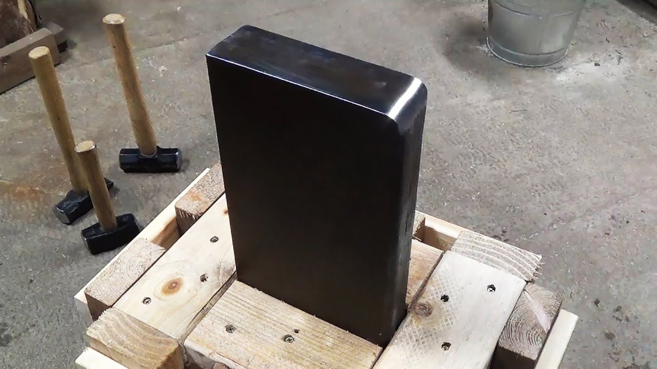 How To Make A 100 Pound Scrap Steel Post Anvil And Stand