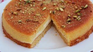 Basbousa/Semolina cake/Rava cake/Soji cake recipe in Hindi*Areem cooking*