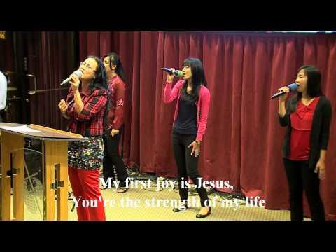 My First Love Is Jesus, worship led by Sandi Cleek