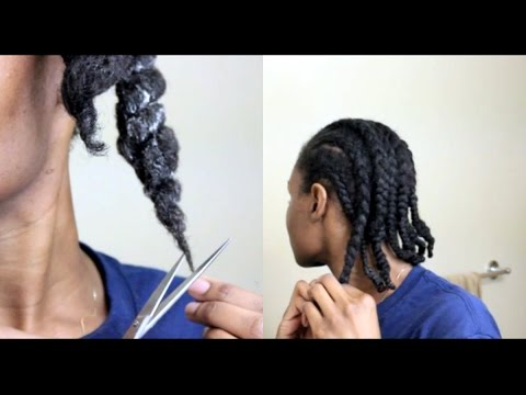 Moisturizing, Dusting My Ends & Braiding My Type 4 Natural Hair For Protective Styling