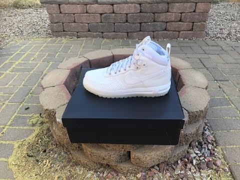 best service 7b0d0 63d33 Nike Air Force One (AF1) Lunar Duckboot Icy White On Feet!!!