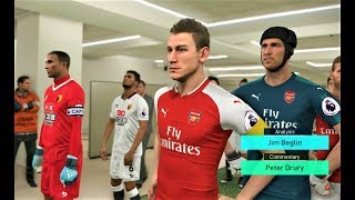 Arsenal vs Watford 2018   Full Match   PES 2018 Gameplay HD