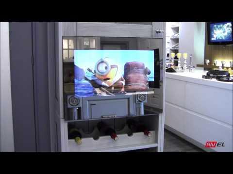 Встраиваемый телевизор в зеркале для кухни AVS220K