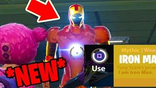 How to PLAY as IRON MAN in Fortnite: Battle Royale *NEW* Easter egg in FORTNITE!