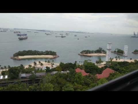 Singapore Cable Car Ride: Imbiah Lookout to Siloso Point April 2017