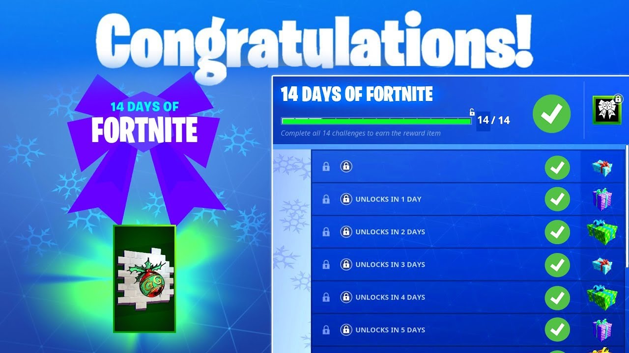 Day 1 Reward Start Or Join A Creative Server 14 Days Of Fortnite Challenges For Free Rewards