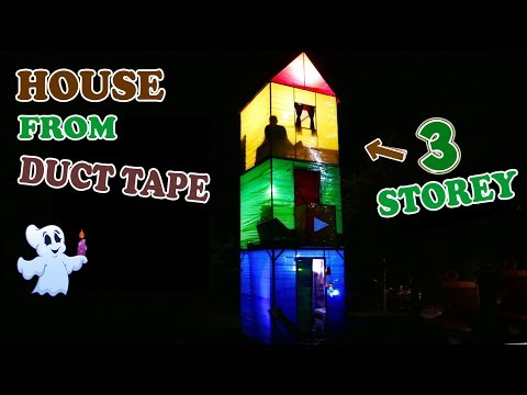 Thumbnail: 3-STOREY HOUSE FROM DUCT TAPE - DIY