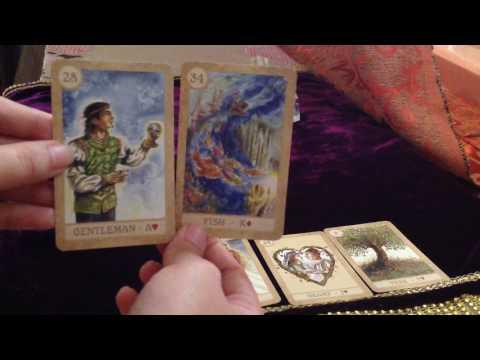 Lenormand Card reading - the basic method. Two card reading method.