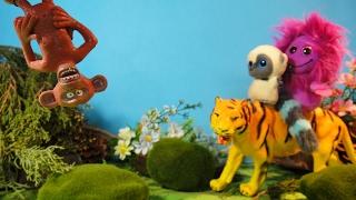 ВРЕДНАЯ ОБЕЗЬЯНА. Спасение тигренка. Мультфильмы про животных для детей.