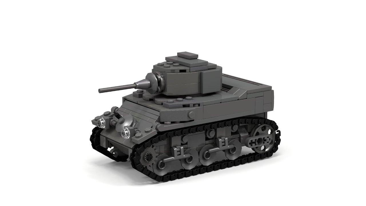 Lego Wwii M3 M5 Stuart Instructions Youtube