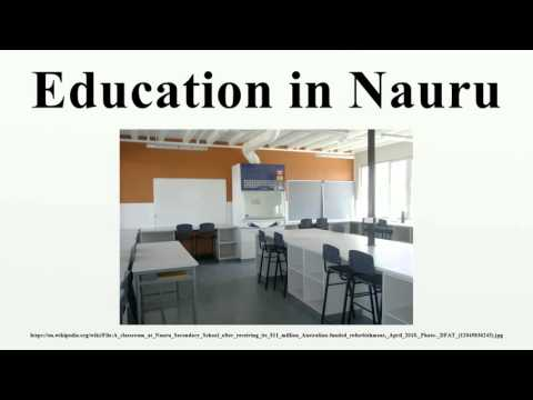 Education in Nauru