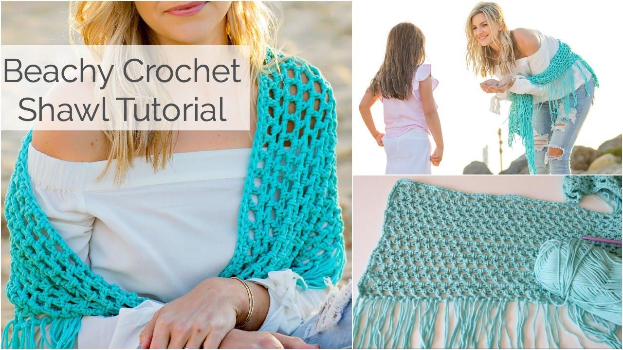 Beachy crochet shawl tutorial beginner friendly youtube beachy crochet shawl tutorial beginner friendly bankloansurffo Choice Image