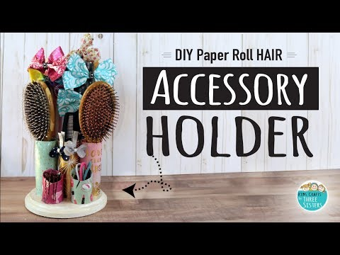 How to Make a DIY Hair Accessory Holder from Paper Rolls | Easy Kids Craft