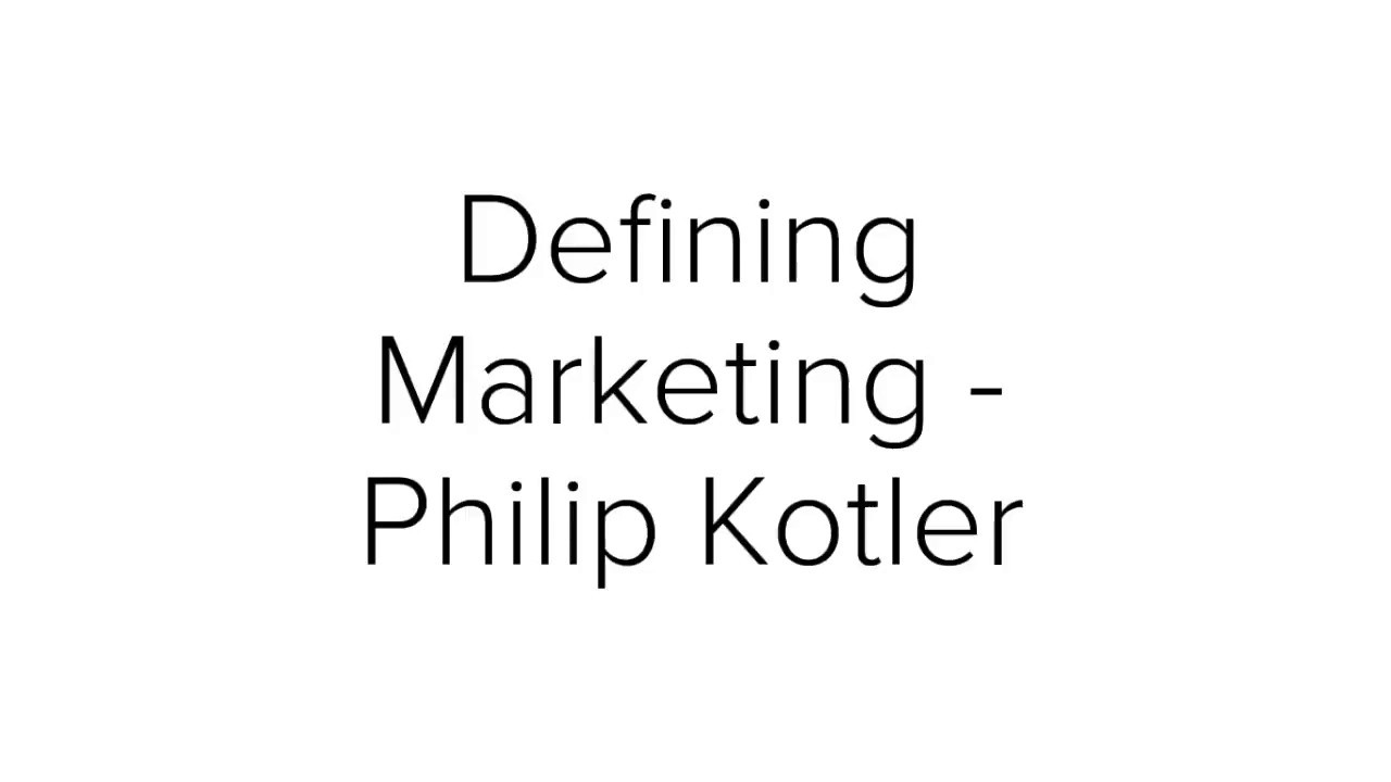 Management Theory Review The Marketing Concept Kotler