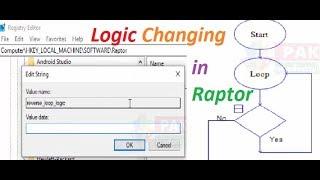 How to Change Logic of Loop in Raptor (Tricks in Raptor)