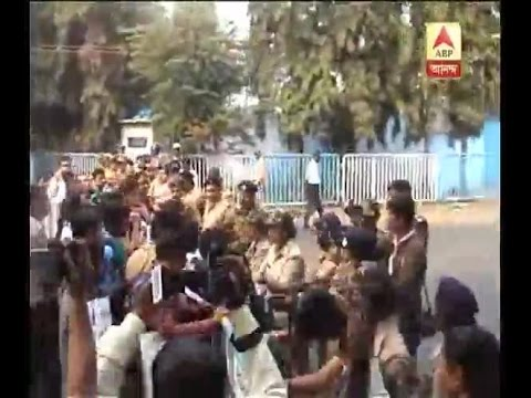 Temporary lecturers agitated outside Bikash Bhawan creates chaos