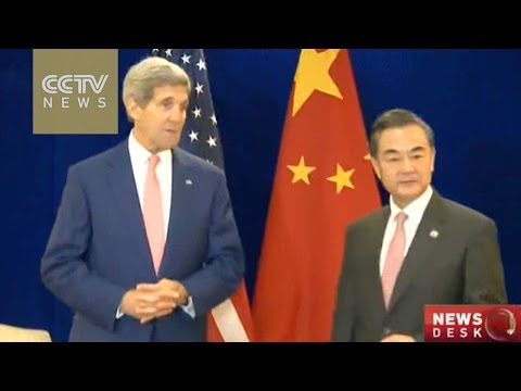 Chinese foreign minister Wang Yi meets John Kerry in Kuala Lumpur