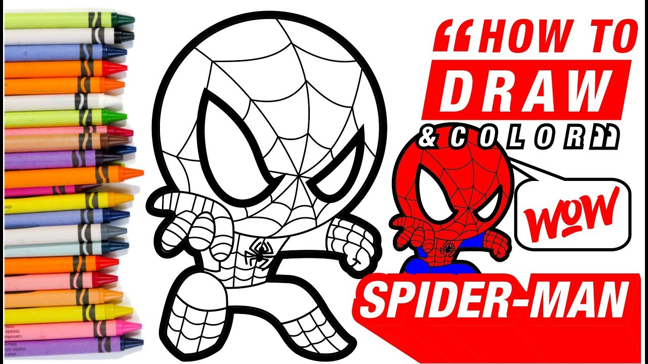 How to draw Spider-Man into the Spider Verse coloring page ...