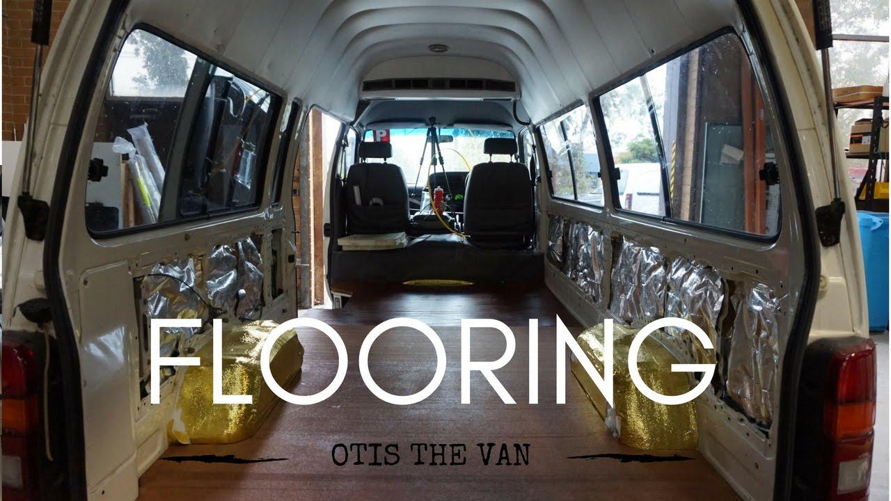 VAN CONVERSION Flooring Toyota HiAce Commuter Part2