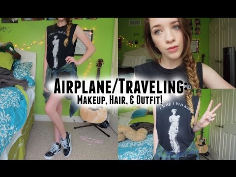 Airplane/Traveling: Makeup, Hair, & Outfit! ♡