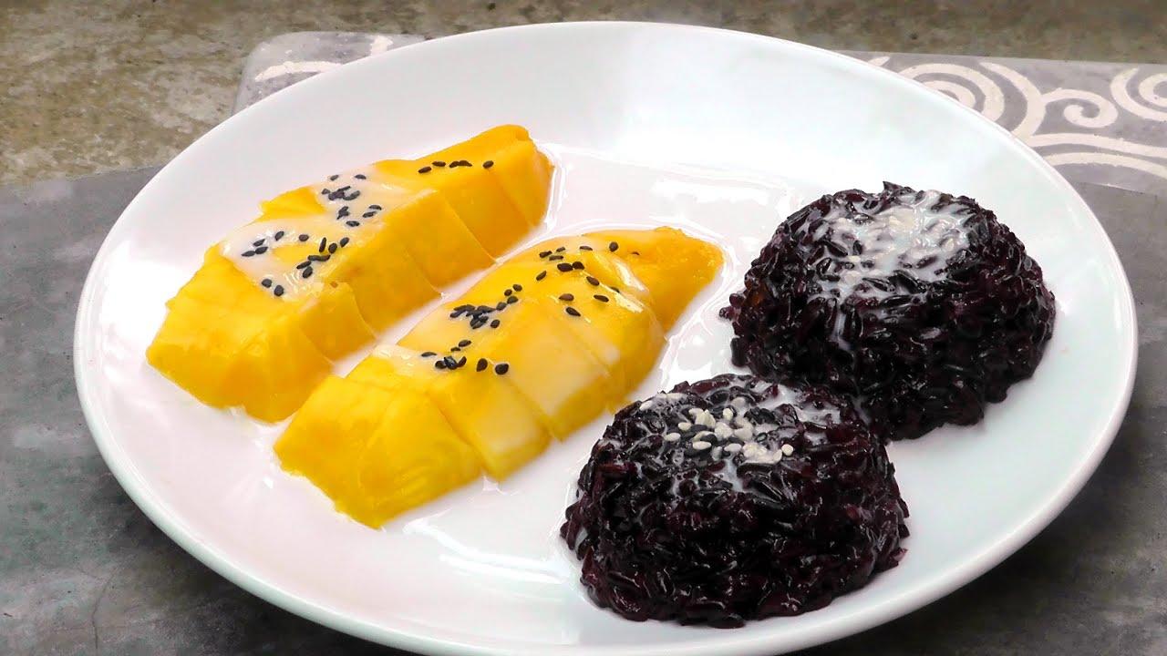 Thai mango black sticky rice vegan vegetarian recipe youtube forumfinder Images