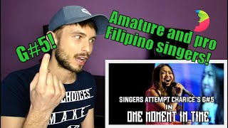 Vocal coach YAZIK analysis of SINGERS ATTEMPTS G#5 OF CHARICE'S VERSION OF ONE MOMENT IN TIME