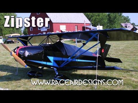 Zipster ultralight bi-plane, experimental aircraft by Raceair Designs.