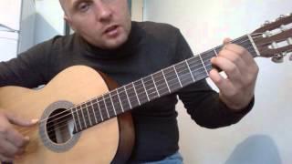 Уроки гитары.Мелодия из фильма профессионал CHI MAI.1 часть