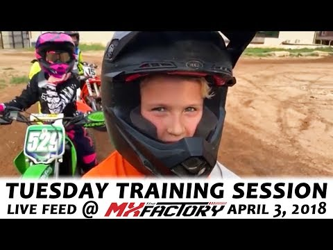 Tuesday Motocross Training LIVE FEED - Turn Track Racing! - April 3, 2018