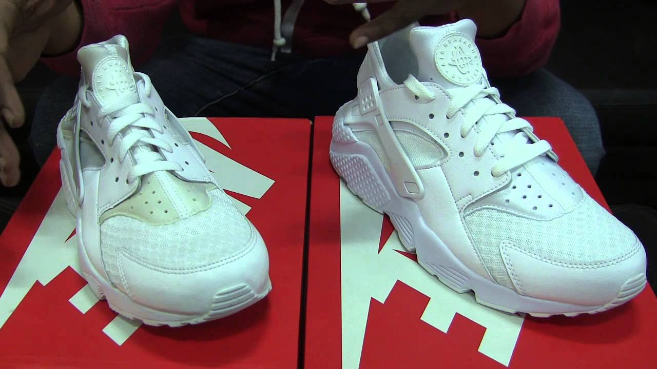 a5010caf796 100% Authentic 2014 vs 2015 Nike Air Huarache Triple White - comparison