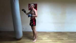 Тайский бокс муай тай  Отработка техники ударов на мешке  Урок №4 Muay Thai