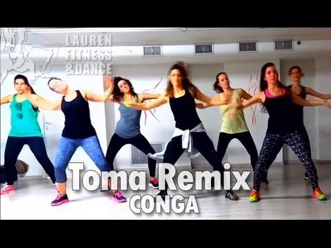 Zumba ® fitness class with Lauren- Pitbull Toma Remix CONGA